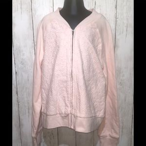 NWT🏷Gap kids pale pink embroidered bomber XL (12)